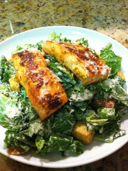 Blackened Mahi Mahi Caesar Salad