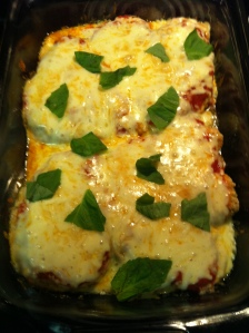 Oven Baked Chicken Parm