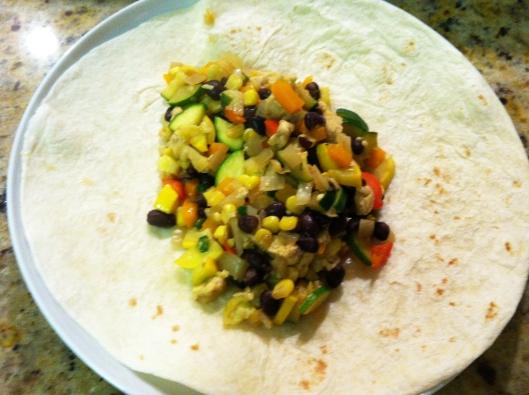 Tempeh Vegetable Burritos