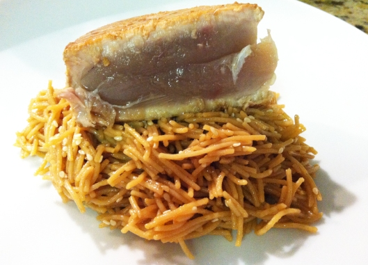 Seared Ahi Tuna with Asian Noodles