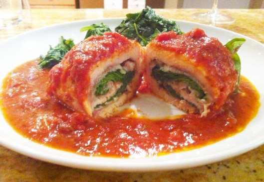 Chicken Saltimbocca Florentine
