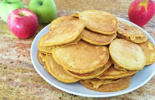 Pumpkin Pancakes with Caramelized Apples