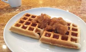 Homemade Applesauce over waffles