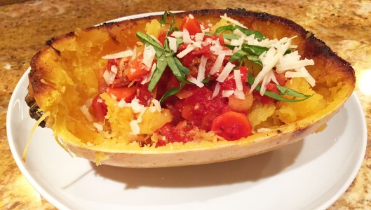 Roasted Spaghetti Squash with Turkey Bolognese