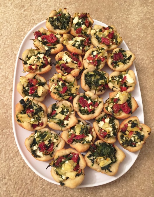 Mini Spinach Artichoke Cups