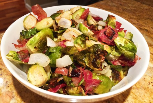 Roasted Brussels Sprouts with Proscuitto