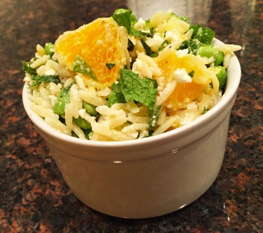 Orange Mint Orzo Salad