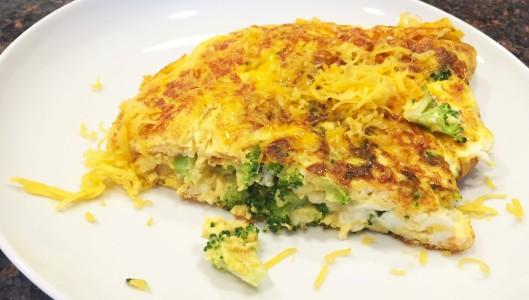 Broccoli Cheddar Omelette