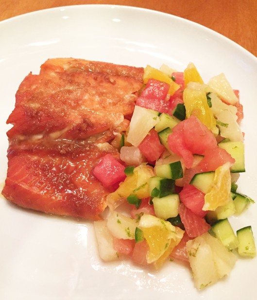 Ginger Soy Salmon with Watermelon Salsa
