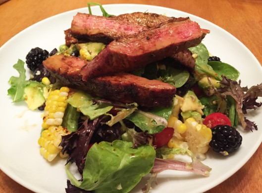 Flank Steak Salad with Chipotle Lime Vinaigrette | janis cakes
